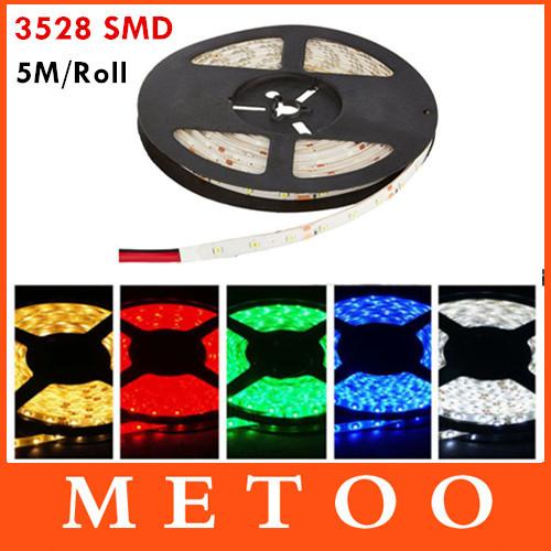 5M 300Leds RGB Led Strip Light 3528 SMD IP60 DC 12V Flexible Light Led Tape String Ribbon Roll Home Car Decoration Pink Purple(China (Mainland))