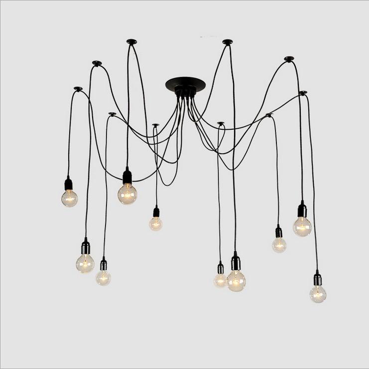Sky full of stars lamp,Nordic RH European British living room bedroom lamp,retro industrial Edison chandelier lamp free shipping
