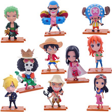12cm One Piece 10pcs/set Action Figures Anime PVC brinquedos Collection Figures toys