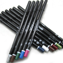 Free & Dropshipping 12Pcs/Set Colorful Waterproof Eye Shadow Pencil Eyeliner Pen Eyebrow Makeup Tool