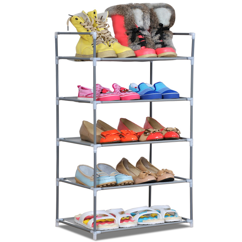 Cheap crown dust shoe storage cabinet simple combination shoes steel rack(China (Mainland))