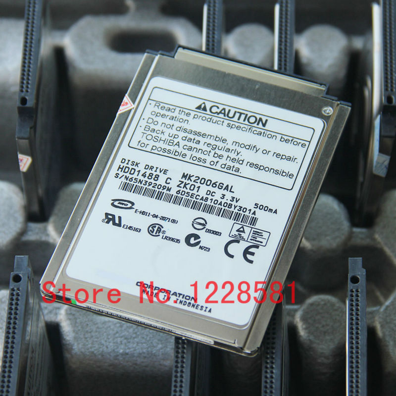 20G 50pin MK2006GAL FOR FUJITSU Elitebook U1010 p1610 p7230 Notebook Hard Drive()