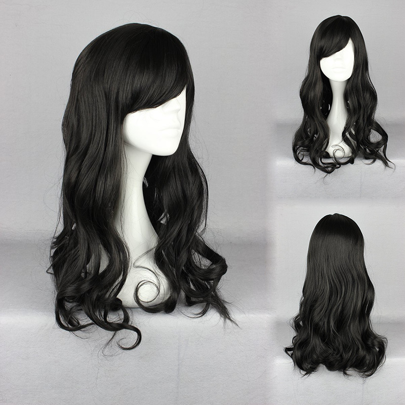 Hot Sales Natural Black Classical  Long Jerry Curly Heat Resistant Hair High Quality  Lolita Wig<br><br>Aliexpress