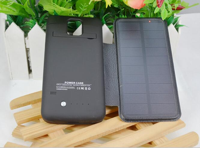 External Backup Solar Battery Case Rechargeable Cover Portable Solar Power Bank 3800mAh Solar Charger For Sumsung GalaxyS5 I9600(China (Mainland))