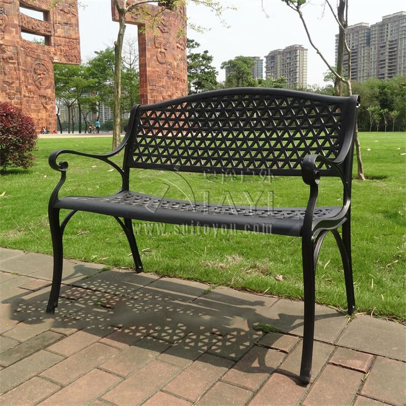double seat antique cast aluminum good quality luxury