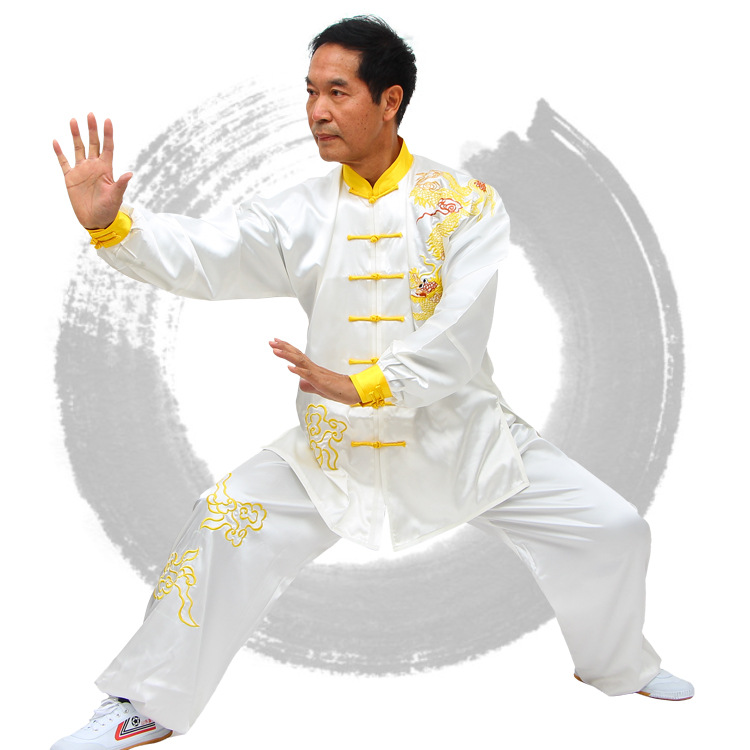 ALWW01 faux silk customized tai chi suits men and women custom-made tai chi uniform tailor wushu suits with embroidery free ship<br><br>Aliexpress