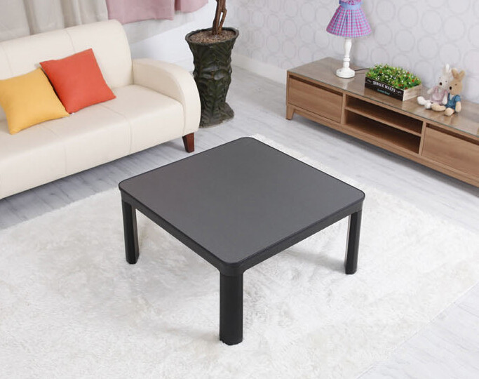 Free shipping Kotatsu Japanese Living Room Table75cm Reversible Top Black/white Folding Legs Foot Warmer Heated Low Coffee Table(China (Mainland))