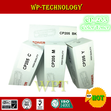 4pcs High Quality color toner cartridges suit for  CP-205 series , CP205 BK C M Y  suit for FUJI Xerox  CP105b CP205W <br><br>Aliexpress