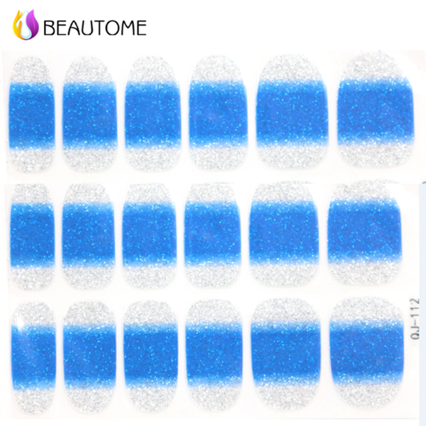 1 Sheet Nail Art Tools Full Cover Gradient Nail Foils Blue Sticker & Decals For Nail Art Decorations Wholesale(China (Mainland))