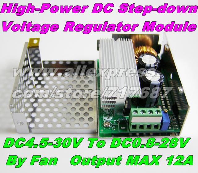 DC Adjustable Buck Converter Power Supply Module DC 8-40v to DC 1.25-36V 10A Output DC Step-Down Voltage Regulator 24V To 12V