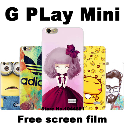 Huawei g play mini case cover Hard plastic case for Huawei g play mini plastic case Cartoon Huawei g play mini phone case+film(China (Mainland))