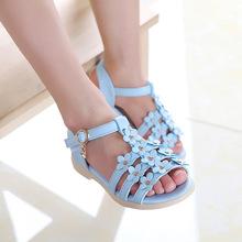 2016 Летний стиль детские сандалии Девушки принцесса красивый цветок обувь дети сандалии детская Обувь оптом кроссовки прилив(China (Mainland))