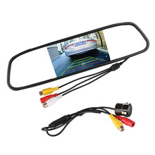 Car Rear View Camera 170 Degree Reverse Backup Parking Rearview Camera with 4.3″ Digital TFT Car Mirror Monitor Parking System