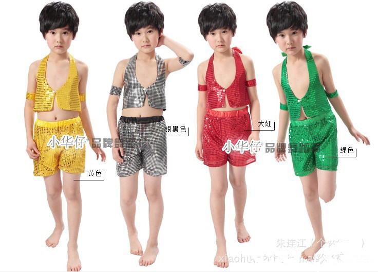 2014 Children Jazz Stage Wear Show Dance Costumes Sequined Dress Suit Performance Clothing A0248 - panyoucun2012 store