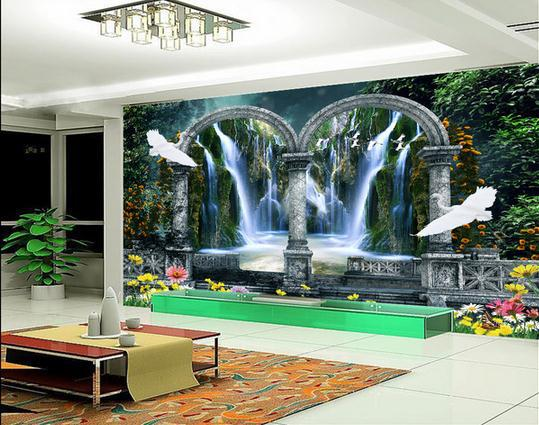 new large wallpaper custom wallpaper garden 3d
