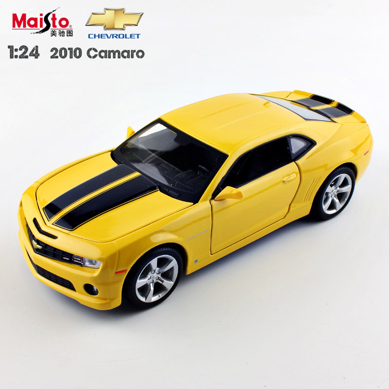 1:24 Scale brand children maisto 2010 camaro bumblebee metal die cast racing vehicle play collectible model sport cars kids toys(China (Mainland))