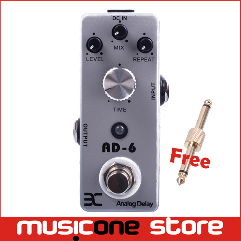 20% Off Second One Eno AD-6 Analog Delay Pedal Guitar 30-340ms delay time Effect Metal Shell Pedals True Bypass + Free Connector(China (Mainland))