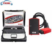 UCANDAS VDM V3.82 Full System WIFI Professional Diagnostic Tool + Used CF-19 Toughbook CF19 Car Diagnostic laptop CF19(China (Mainland))