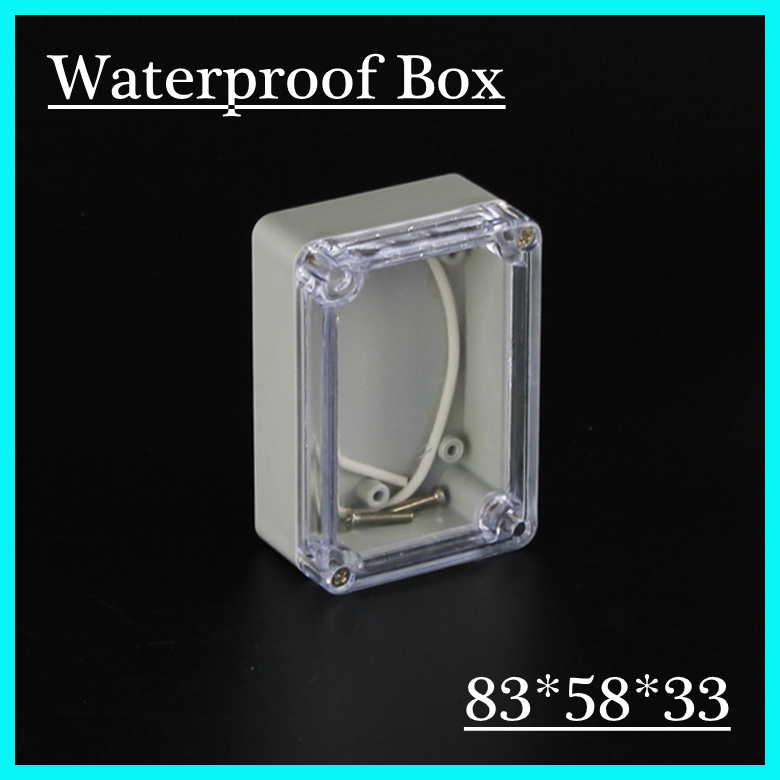 83*58*33mm Clear Cover custom electronics enclosures IP66 waterproof plastic outdoor enclosure abs diy junction box<br><br>Aliexpress