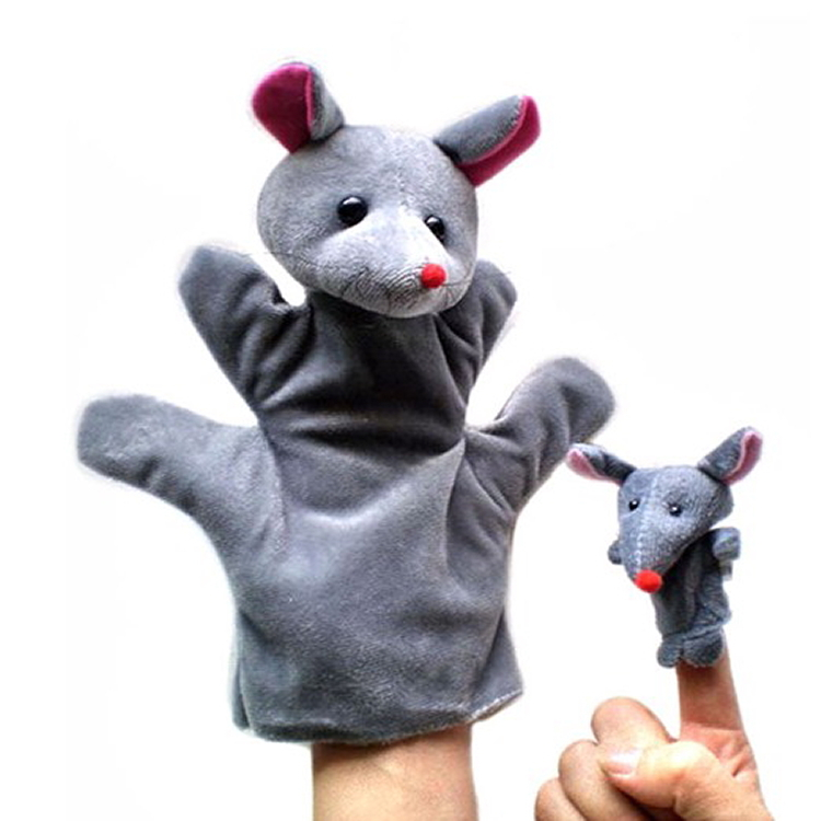 Baby Plush Toy Finger Puppets + Hand Puppet Little Mouse