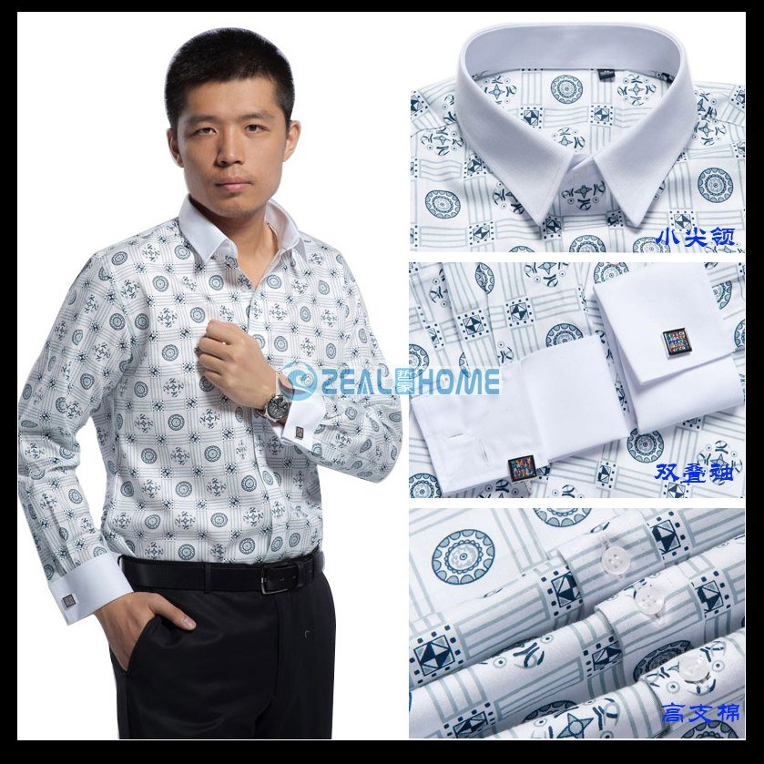 Wholesale shirt custom made company uniforms men 39 s french for French cuff shirts cheap