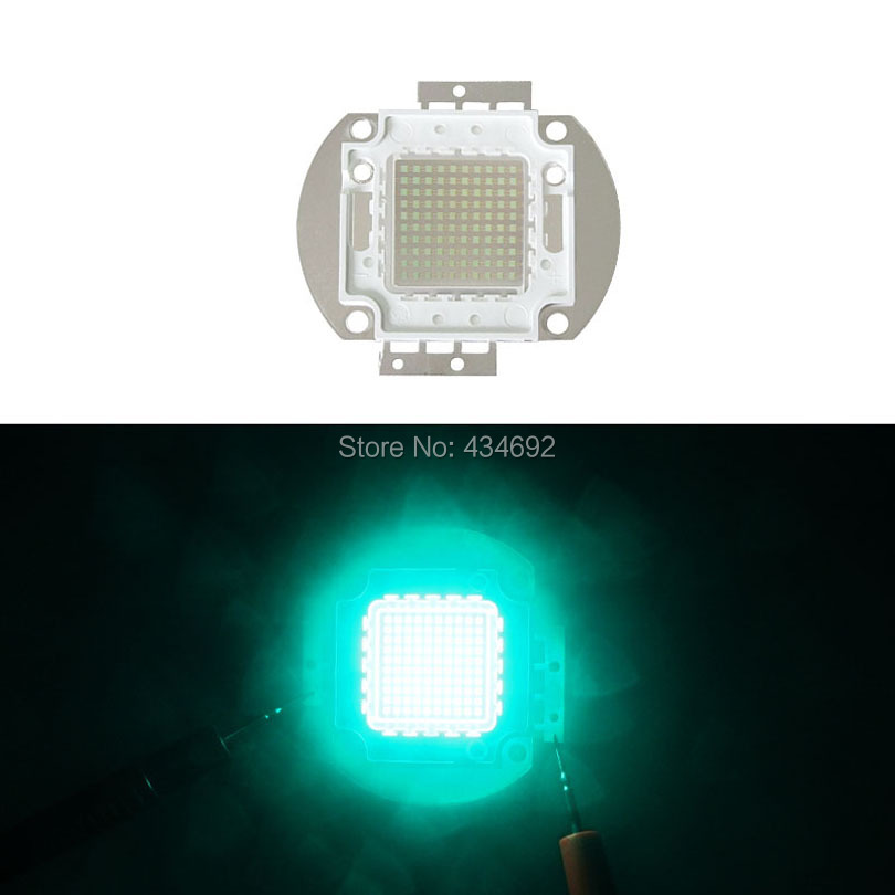 Фотография 100W Cyan 490-495NM Led Emitter Lamp Light 30-34V 3000mA High Power Led Light