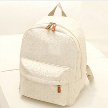 High quality lace backpack 2016 Fashion New Women Backpack Korea College wind Ladies books shoulder bag Sweet girl traveling bag(China (Mainland))