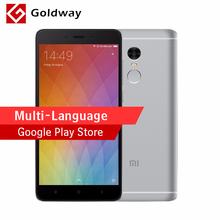 Original Xiaomi Redmi Note 4 Mobile Phone MTK Helio X20 Deca Core 2GB RAM 16GB ROM 5.5-inch 1080P Fingerprient ID 4100mAh(Hong Kong)