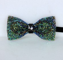 Men & woman Suit Accessories Bow Tie Dance style Refinement Rhinestone Handmade birthday gift Couple models