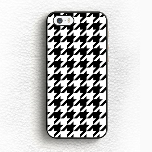 Houndstooth Black White Foot of Hen Soft TPU Skin Mobile Phone Cases For iPhone 6 6S Plus 5 5S 5C SE 4 4S Back Shell Case Cover(China (Mainland))