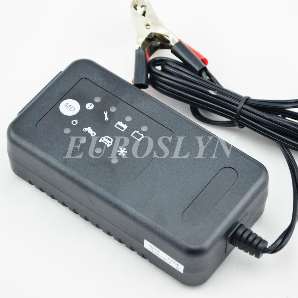 12V car battery charger, 12V motorcycle battery charger, 12V lead acid battery charger for 12V SLA, GEL, AGM, VRLA battery(China (Mainland))