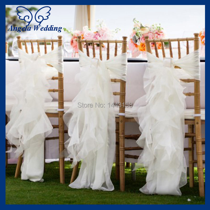 wedding chair cover with buckle in chair cover from home garden on
