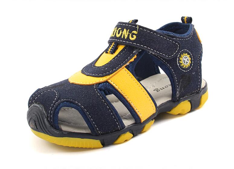 Горячая! 2015 новый бренд мальчиков летние открытые спортивные туфли дети армия