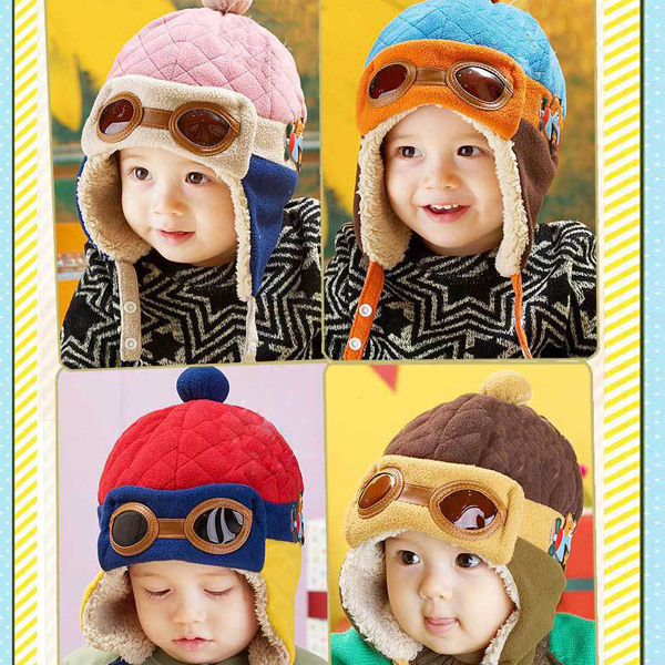 Toddlers Warm Cap Hat Beanie Cool Baby Boy Girl Kids Infant Winter Pilot Aviator Cap(China (Mainland))