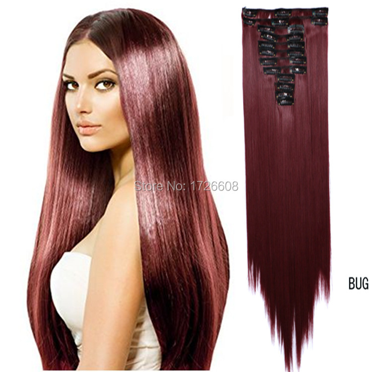 Auburn Clip On Hair Extension 60cm 24 150g Natural Hairpieces Hair