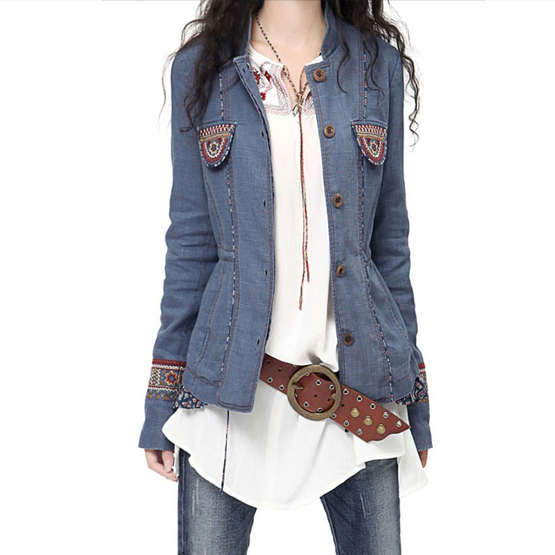 Spring Jacket Women 2016 Vintage Mexican Embroidery Ethnic ...