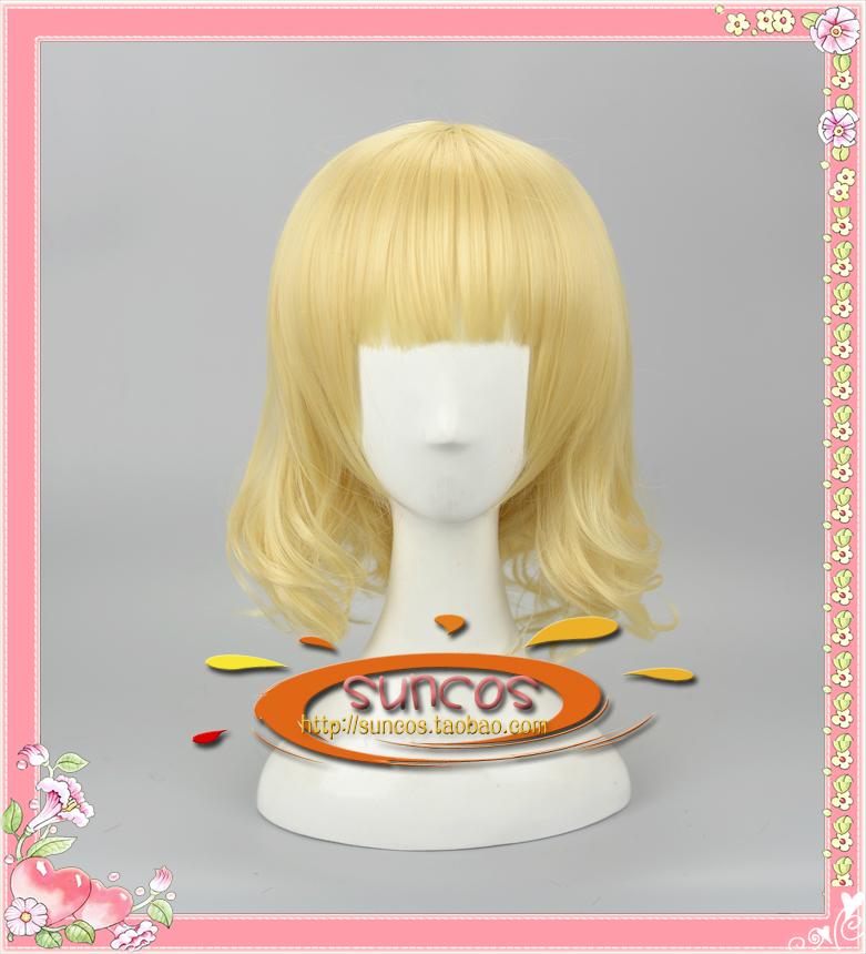 Suncos Is the order a rabbit? Kirima syaro cosplay wig yellow anime hair Heat resistance fibre man free shipping +Cap(China (Mainland))