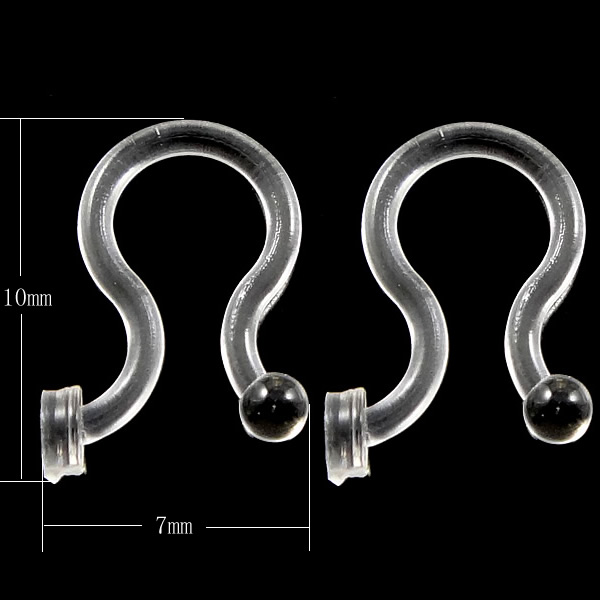 Free shipping!PC Plastic Earring Hook, clear, 7x10x1mm, 500PCs/Lot, Sold By Lot<br><br>Aliexpress