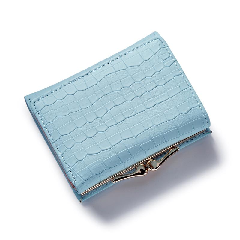 Fashion Stone Women wallet small three fold PU leather coin wallet mini size women purse brand designed female coin purse wallet(China (Mainland))
