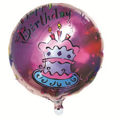 Hot Sale Wholesale 50pcs/lot Cartoon Pink Cake 18 inch Round Shape Foil Happy Birthday Balloon Pictures Party Decoration(China (Mainland))