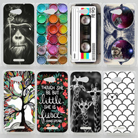 Case For Sony Xperia E4G Dual E2003 E2033 Colorful Printing Drawing Plastic Cover for Sony E4G Hard Phone Cases