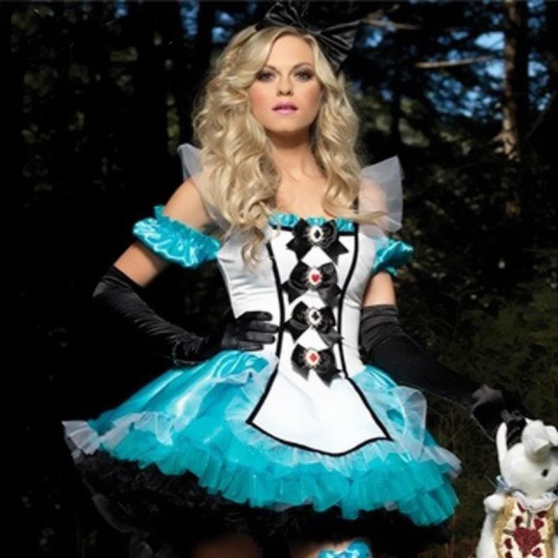New Alice's Adventures in Wonderland Christmas Alice princess tutu dress Helloween Cosplay Costume Xmas superhero capes stitch(China (Mainland))