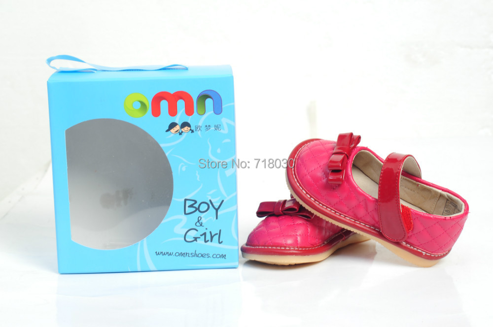 New Hot brand baby shoes kids will sound Leather shoes baby prewalker first walkers Toddler shoes for girls 5003-RD