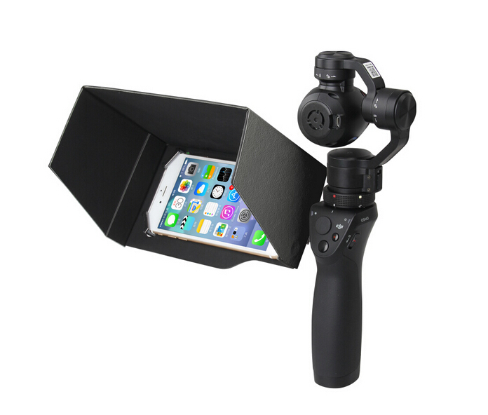 New Updated DJI Osmo Handheld 3-Axis Gimbal Accessories 5.5 Inch Foldable Mobile Phone Sunshade Sun Hood Black(China (Mainland))