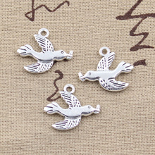 Buy 15pcs Charms swallow dove olive 21*19mm Antique pendant fit,Vintage Tibetan Silver,DIY bracelet necklace for $2.20 in AliExpress store