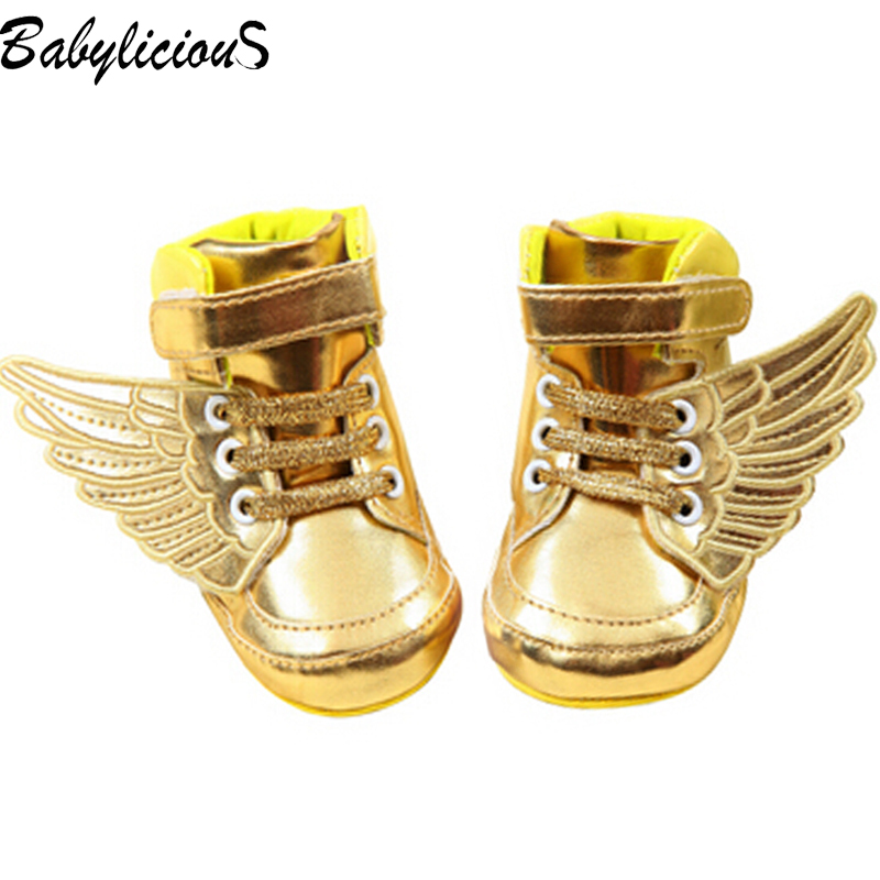 Wings Leather Winter Warm Gold Children's Baby Boys Toddler Girl Boots Calcados Infantil Menina Shoes(China (Mainland))