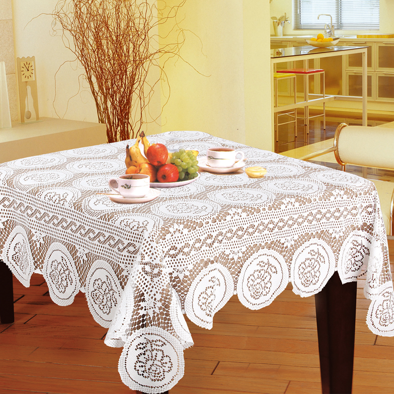Elegant Polyester Jacquard Lace Tablecloth For Wedding Party Home Table Cloth Cover Textile Decoration nappe 150*230cm LS001(China (Mainland))