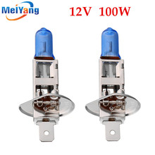 Buy 2pcs H1 100W 12V Halogen Bulb Super Xenon White Fog Lights High Power Car Headlight Lamp Car Light Source parking auto for $1.11 in AliExpress store