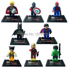 8pcs star wars little minifigures Building Blocks bricks Avengers Marvel Super Hero kids Toys poni Batman spiderman compatible