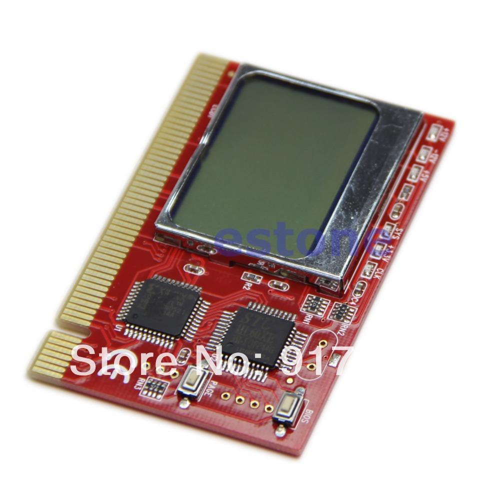 Free Shipping LCD Display PCI Computer PC Analyzer Tester Diagnostic Debug POST Card(China (Mainland))